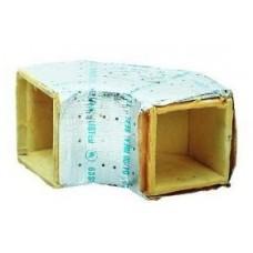 "Unico UPC-18-065S-1 Square Fiberglass Duct 90 Elbow 6.5"" x 6.5"""