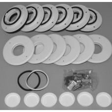 "Unico UPC-89TMF-6 2"" Flat Metal Duct Install Kit - 6 Runs"