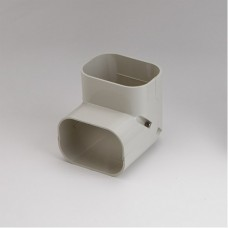 "SlimDuct SC100I 3-3/4"" Ivory 90° Vertical Elbow"