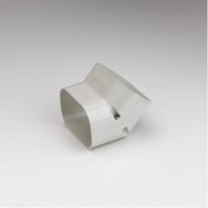 """SlimDuct SCF100I 3-3/4"""" Ivory 45° Vertical Elbow"""