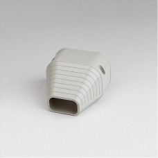 "SlimDuct SEN100I 3-3/4"" Ivory End Fitting"