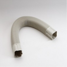 """SlimDuct SF100800I 3-3/4"""" Ivory 31"""" Flexible Elbow"""