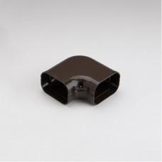 """SlimDuct SK100B 3-3/4"""" Brown 90° Flat Elbow"""