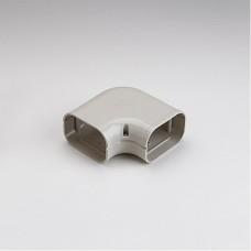 """SlimDuct SK100I 3-3/4"""" Ivory 90° Flat Elbow"""