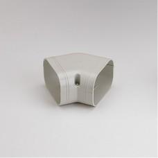 """SlimDuct SKF100I 3-3/4"""" Ivory 45° Flat Elbow"""