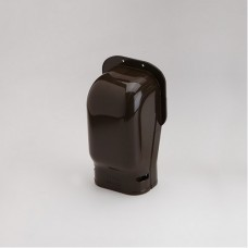 """SlimDuct SW100B 3-3/4"""" Brown Wall Inlet"""