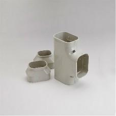 "SlimDuct ST100I 3-3/4"" Ivory Tee"