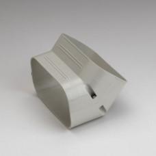 """SlimDuct SCF140I 5-1/2"""" Ivory 45 Vertical Elbow"""