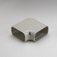 """SlimDuct SK140I 5-1/2"""" Ivory 90° Flat Elbow"""