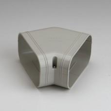 """SlimDuct SKF140I 5-1/2"""" Ivory 45° Flat Elbow"""