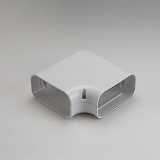 """SlimDuct SK140W 5-1/2"""" White 90° Flat Elbow"""