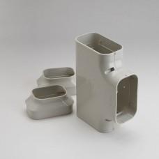 "SlimDuct ST140I 5-1/2"" Ivory Tee"