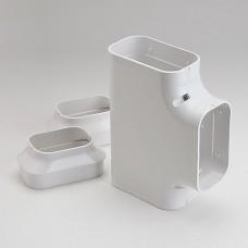 "SlimDuct ST140W 5-1/2"" White Tee"