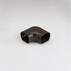 """SlimDuct SK77B 2-3/4"""" Brown 90° Flat Elbow"""