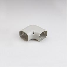 """SlimDuct SK77I 2-3/4"""" Ivory 90° Flat Elbow"""