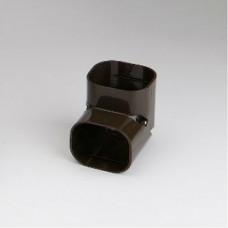 """SlimDuct SC77B 90° 2-3/4"""" Brown Vertical Elbow"""