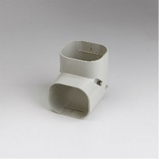 "SlimDuct SC77I 2-3/4"" Ivory 90° Vertical Elbow"