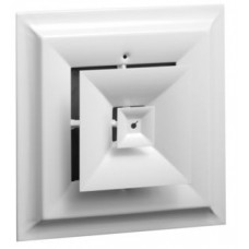 """Hart & Cooley 24 - Steel, Step Down, Square Diffuser - 8"""""""