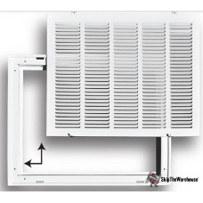 TRUaire 190RF20X14 20X14 Stamped Filter Grille Removable Face