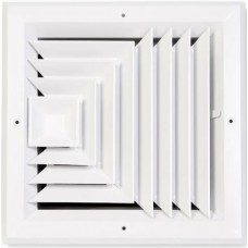 Accord Ventilation White Aluminum Ceiling Diffuser (Rough Opening: 14-in x 14-in; Actual: 17-in x 17-in)
