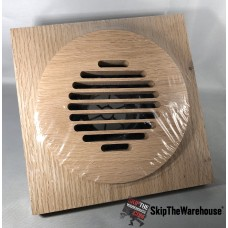 Spacepak AC-TRM-LF-UO Flush Mount Unfinished Oak Cover - Louvered