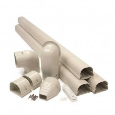 "Fortress LDK92I 3-1/2"" x 12' Ivory Line Set Wall Duct Kit"