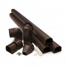 "Fortress LDK92B 3-1/2"" x 12' Brown Line Set Wall Duct Kit"