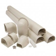 "Fortress LDK122I 4-1/2"" x 12' Ivory Line Set Wall Duct Kit"