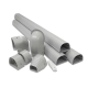 "Fortress LDK122G 4-1/2"" x 12' Gray Line Set Wall Duct Kit"