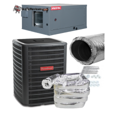 Spacepak 5 Ton System Package - Spiral Plenum Duct - Heat Pump