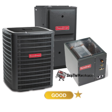 Goodman 3 Ton A/C 14.5 SEER with 96% 80k BTU Gas Furnace
