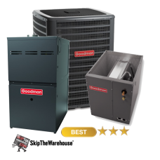 Goodman 2 Ton A/C 16 SEER with 80% 80k BTU Gas Furnace