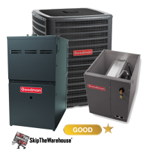 Goodman 2 Ton A/C 14.5 SEER with 80% 60k BTU Gas Furnace