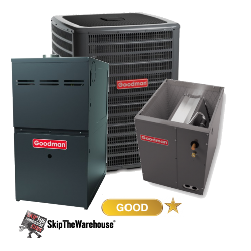 Goodman 2 Ton A C With Gas Furnace 14 Seer