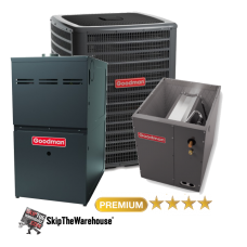 Goodman 2 Ton A/C 18 SEER with 80% 60k BTU Gas Furnace