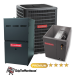 Goodman 3 Ton A/C 18 SEER with 80% 80k BTU Gas Furnace
