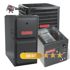 Goodman 1.5 Ton A/C 16 SEER with 96% 40k BTU Gas Furnace
