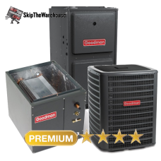 Goodman 2 Ton 2 Stage A/C 18 SEER with 96% 60k BTU Gas Furnace