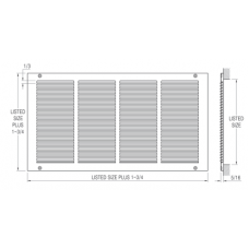 Accord 24 X 24 Return Air Grille 1/3 In White