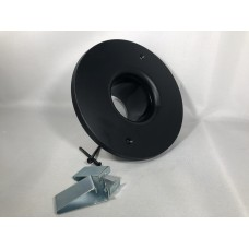 Spacepak Flat Black Outlet Cover with Kwik Connect