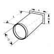 "Unico UPC-61-3036 9"" 2.5-3 Ton Round Supply Adapter"