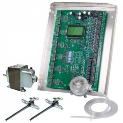 iO HVAC Controls ZP6-ESP-KIT 6-ZONE UNIVERSAL ZONE ESP PANEL KIT WITH STATIC PRESSURE SENSOR, DUCT TEMP SENSORS, AND 75VA TRANSFORMER
