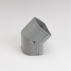 "Fortress  LCFO92G 3-1/2"" 45 Degree Gray Outside Vertical Elbow"