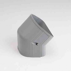 "Fortress LCFO122G 4-1/2"" 45 Degree Gray Outside Vertical Elbow"