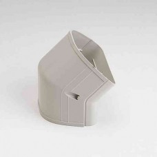 "Fortress LCFO122I 4-1/2"" 45 Degree Ivory Outside Vertical Elbow"