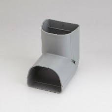"Fortress LCI92G 3-1/2"" 90 Degree Gray Inside Vertical Elbow"