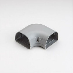 "Fortress LK92G 3-1/2"" 90 Degree Gray Flat Elbow"