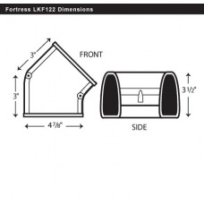 "Fortress LKF122B 4-1/2"" 45 Degree Brown Flat Elbow"