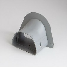 """Fortress LP122G 4-1/2"""" Gray Soffit Inlet"""