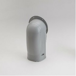 "Fortress LW92G 3-1/2"" Gray Wall Inlet"